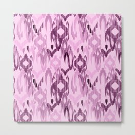 Ornament in pink and purple Metal Print