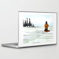 lonely Laptop & iPad Skins featuring Lonely by Lee Grace Illustration