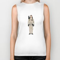 ghostbusters Biker Tanks featuring Ghostbusters - Venkman by V.L4B