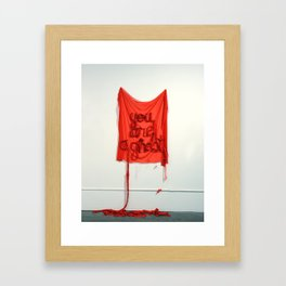 You Are A Ghost, The Unravel, Silk Graffiti by Aubrie Costello Framed Art Print
