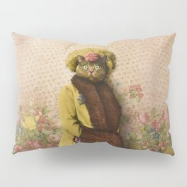 Lady Vanderkat with Roses Pillow Sham