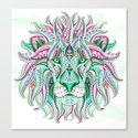 Sea Green Ethnic Lion by serigraphonart