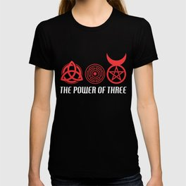 Power of Three Triquetra Hecate's Wheel Horned God T-shirt
