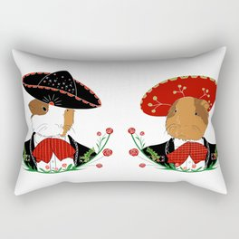 Guinea pigs with sombreros Rectangular Pillow