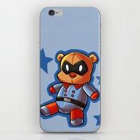 bucky iPhone & iPod Skins featuring bucky!bear by zombietonbo