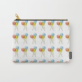 Lollipop Red Blue Yellow Candy Food Watercolor Carry-All Pouch