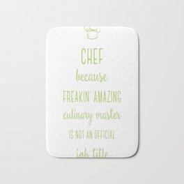 Chef t-shirt Bath Mat