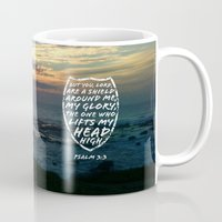 agents of shield Mugs featuring SHIELD by Pocket Fuel
