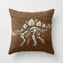 Extinct Lil' Stegosaurus Throw Pillow