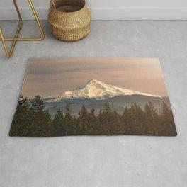 Mount Hood Vintage Sunset - Nature Landscape Photography Rug