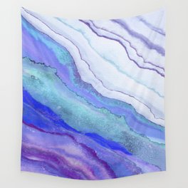 AGATE Inspired Watercolor Abstract 07 Wall Tapestry