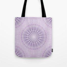 Lavender Geometric Mandala Tote Bag
