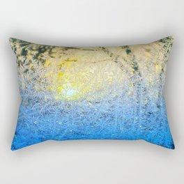 Ice Forest Sunset Rectangular Pillow