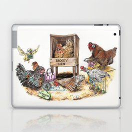 """Life in the Coop"" funny chicken watercolor Laptop & iPad Skin"