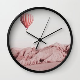 Desert Hot Air Balloon Wall Clock
