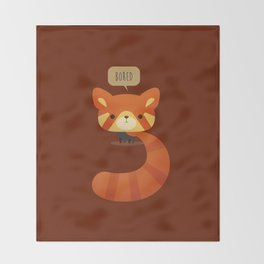 Little Furry Friends - Red Panda Throw Blanket