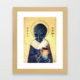 St. Alien Framed Art Print
