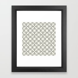 Simply Mod Diamond Black and Cream Framed Art Print