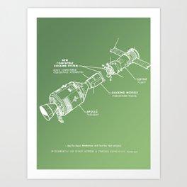 Apollo Meets Soyuz Art Print