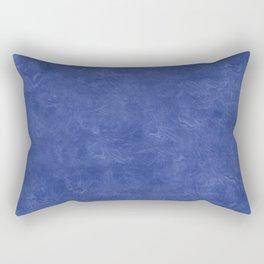 Deep Ultramarine Oil Pastel Color Accent Rectangular Pillow