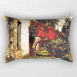 Under the stairwell - Florest Navarro de Andrade Rectangular Pillow