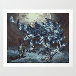 Darkbeast Paarl Art Print