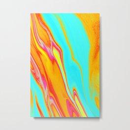 Liquid Temperature Metal Print