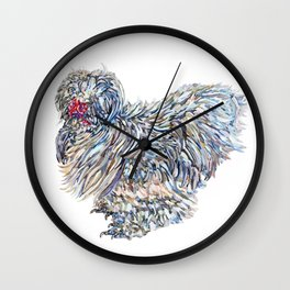 Walter the Silkie Rooster Wall Clock