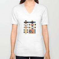 snake V-neck T-shirts featuring Snake by Rudolf Brancovsky