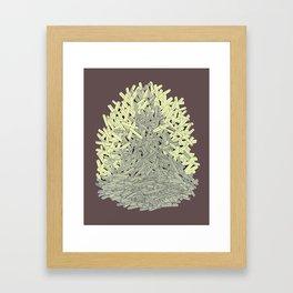 A BROWN ASCENT Framed Art Print