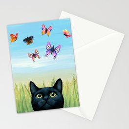Cat 606 Butterfly Nature Stationery Cards