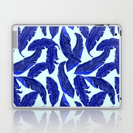 Banana leaves tropical leaves blue white #homedecor Laptop & iPad Skin