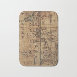 The Codex Quetzalecatzin (1591) Bath Mat