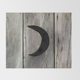Outhouse Moon Throw Blanket