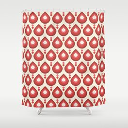 Drops Retro Pink Shower Curtain