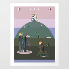 bellflower of the northern sky Art Print