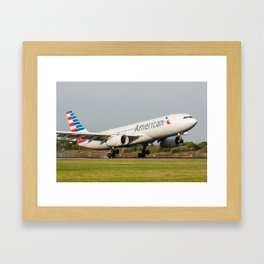 American Airlines Air Airbus A330 Framed Art Print