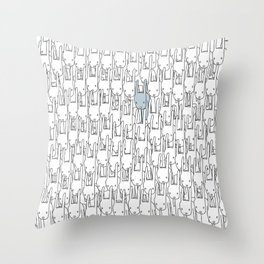 Outstanding Rabbit Throw Pillow