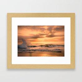 Autumn Wave Framed Art Print