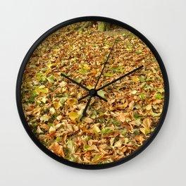 Crunch of Autumn Wall Clock