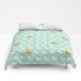 Proud cat pattern blue Comforters