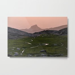 Silver river. Trevenque. Sierra Nevada National park. At sunset Metal Print