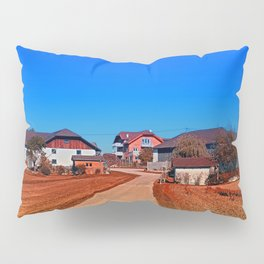 Peaceful countryside village scenery | landscape photography Pillow Sham