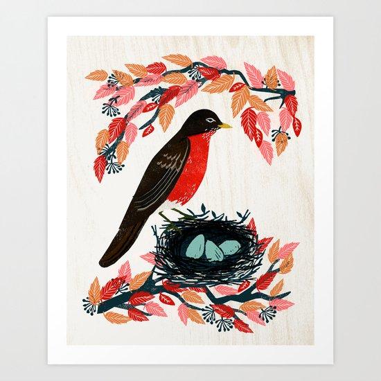 Robin's Nest by Andrea Lauren  Art Print