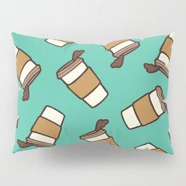 Take it Away Coffee Pattern Pillow Sham