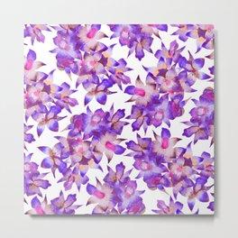 Vintage Floral Violet Metal Print