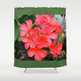 Red blossom pattern Shower Curtain