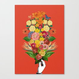 Botanical Red Canvas Print