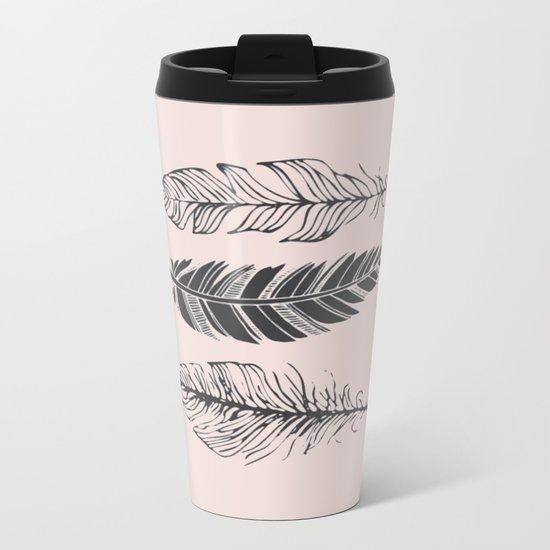 Three feathers Metal Travel Mug