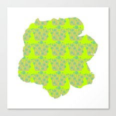 pattern with flower Canvas Print